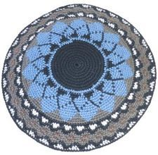 How To Crochet A Mens Cotton Kippah כיפות Crochet Knitting