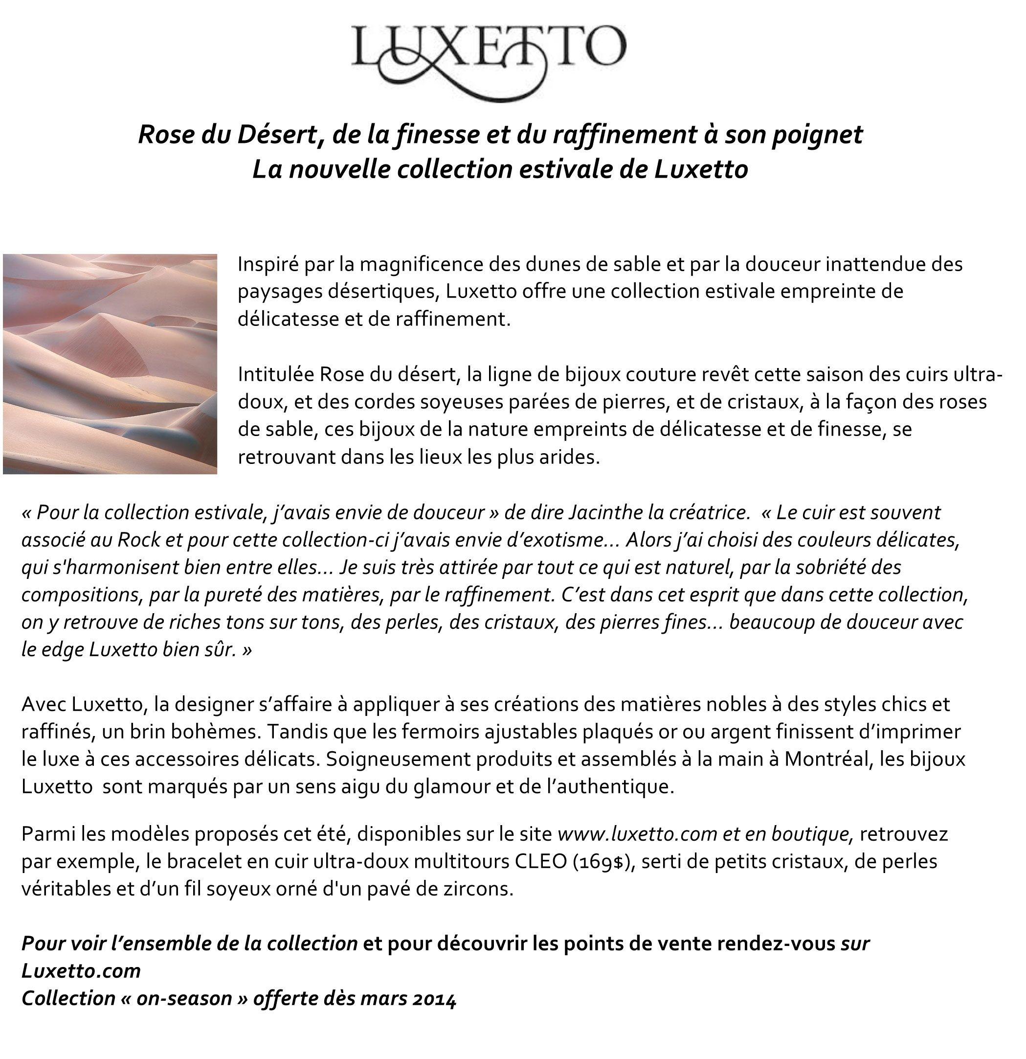 Communiqué de presse LUXETTO en français © Pauline Penicaud ... bb8823037853