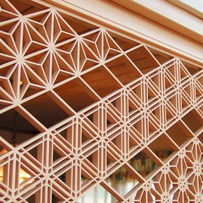 Kumiko Ramma Screen Japanese Traditional Hand Crafted Wood Screen http://ippinproject.com/product/kumiko-ramma-screen/