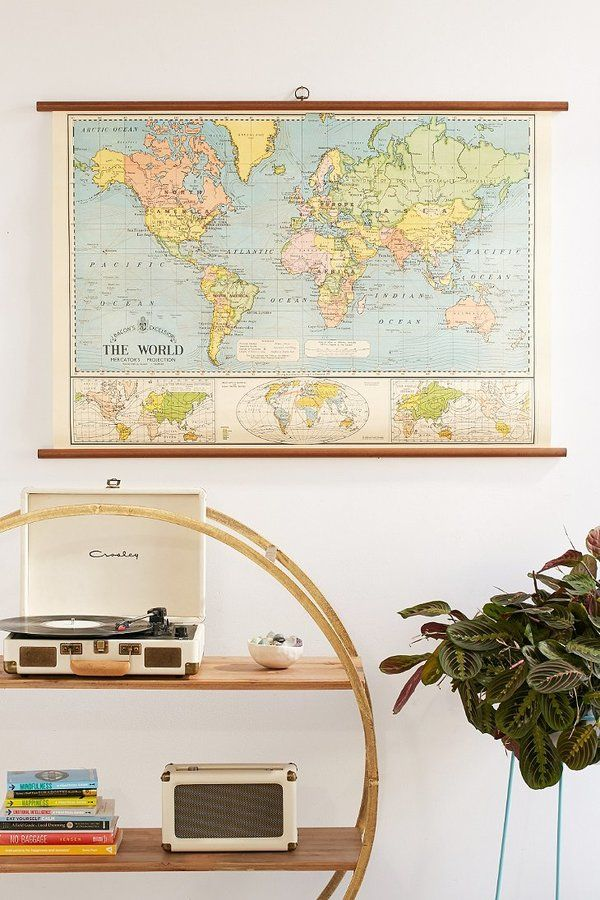 World map school chart wall hanging for if you cant find me an world map school chart wall hanging for if you cant find me an awesome vintage one gumiabroncs Images