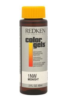 color gels permanent conditioning haircolor 1nw - midnight by redken
