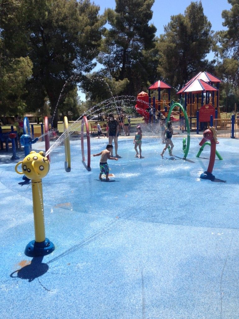 awesome list of free splash pads in phoenix also a review of