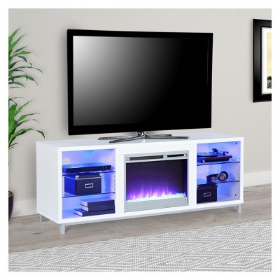 Ilyse Tv Stand For Tvs Up To 70 With Fireplace White