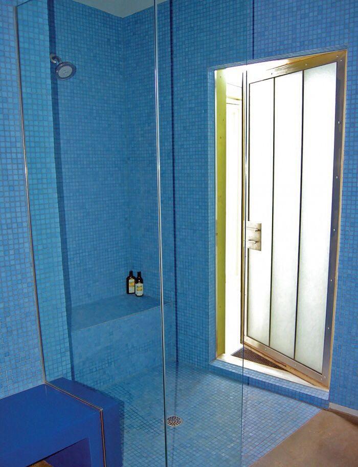 shower with exterior door bathrooms pinterest exterior doors and shower doors