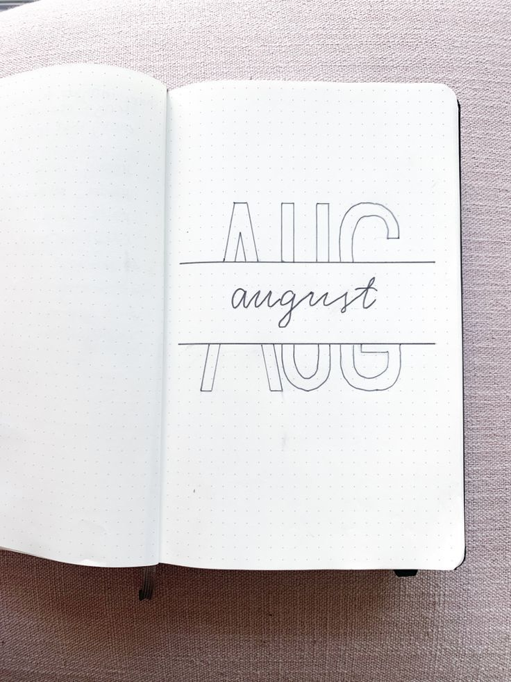 August Bullet Journal Cover #bulletjournaldoodles