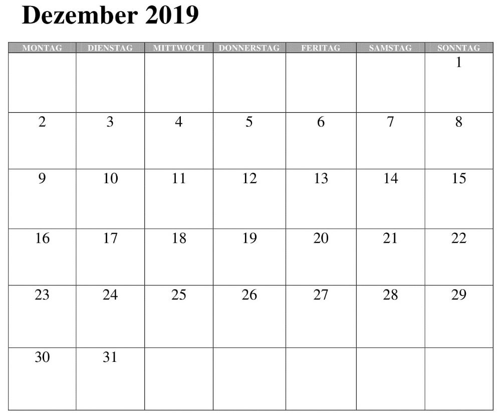 kalender 2019 zum eintragen