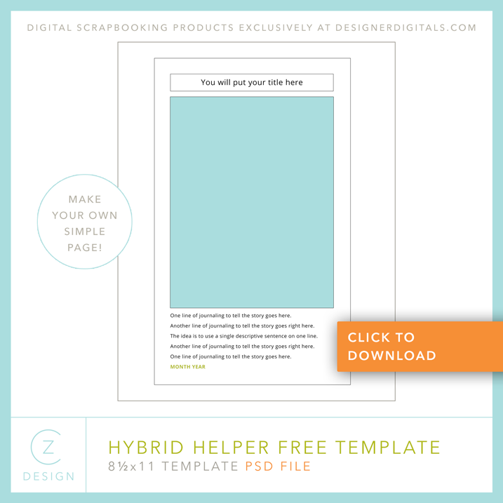 Make a Page…Friday? (Indeed is it + a free template ...