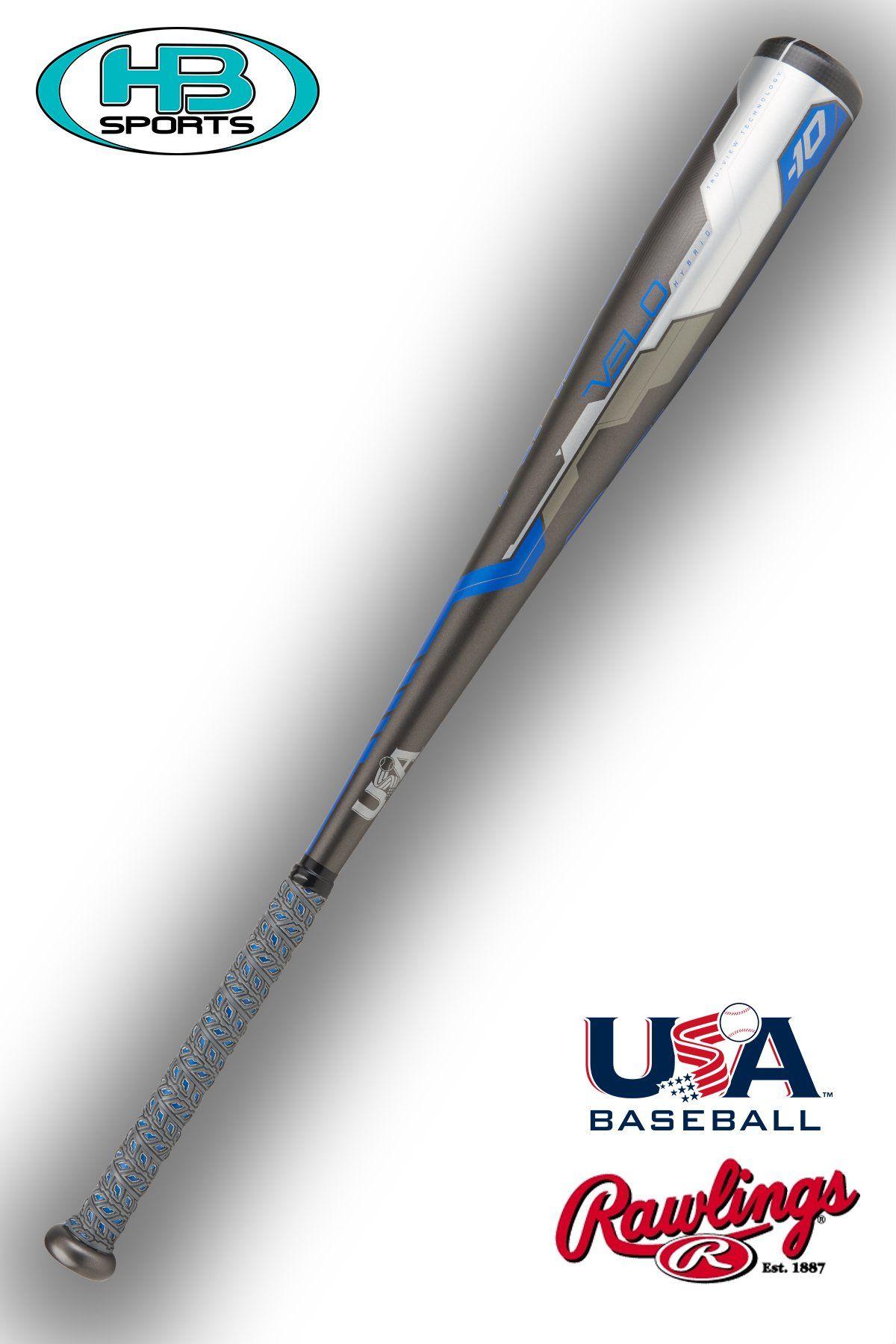 US8V10 Alloy /& Composite Youth USA Baseball Bat Rawlings Velo -10