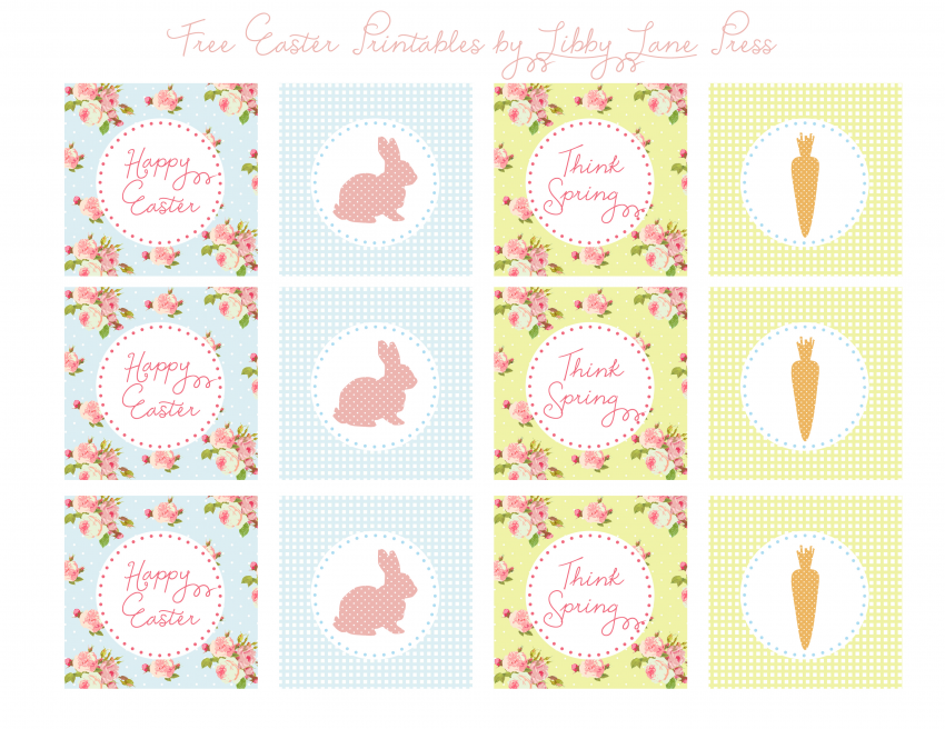 FREE printable Easter Party tags