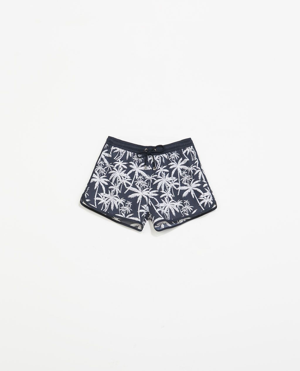 6f1f3265b1 ZARA - MAN - PALM TREE PRINT SWIMSUIT WITH CONTRASTING PIPING