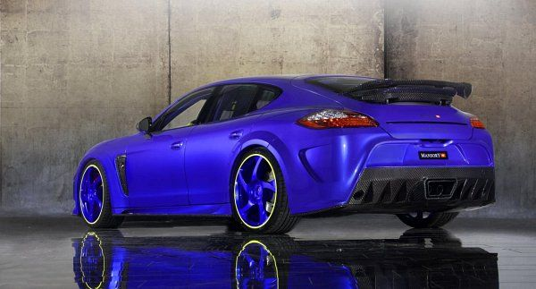 Neon Blue MANSORY Porsche Panamera Turbo 2010