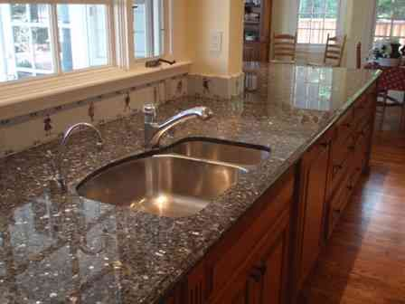 Granite Countertop Dark Gray With Silver White Specks