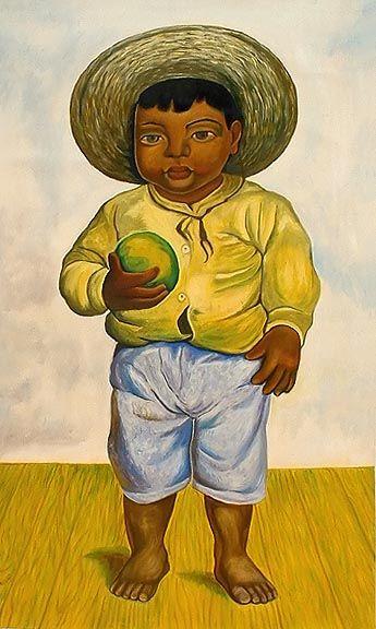 Muchacho Mexicano Diego Rivera Diego Rivera Arte Mexicano