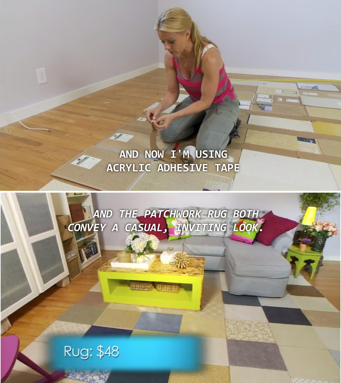 area rugs diy