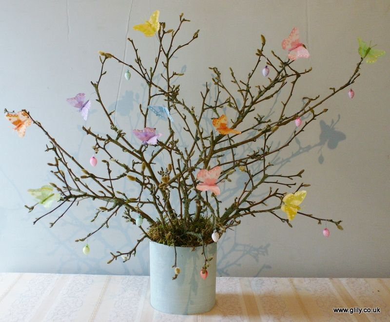 pastle and neon butterfly tree