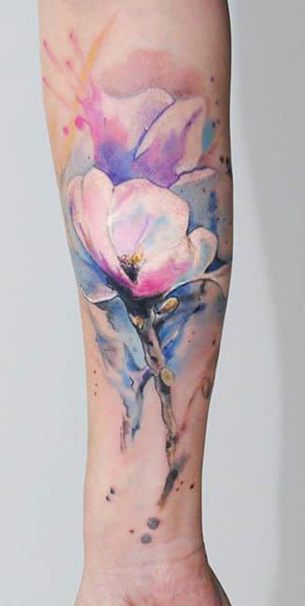 Beautiful watercolor jasmine flower forearm arm sleeve tattoo ideas beautiful watercolor jasmine flower forearm arm sleeve tattoo ideas for women ideas de tatuaje de manga de brazo de flor mybodiart izmirmasajfo