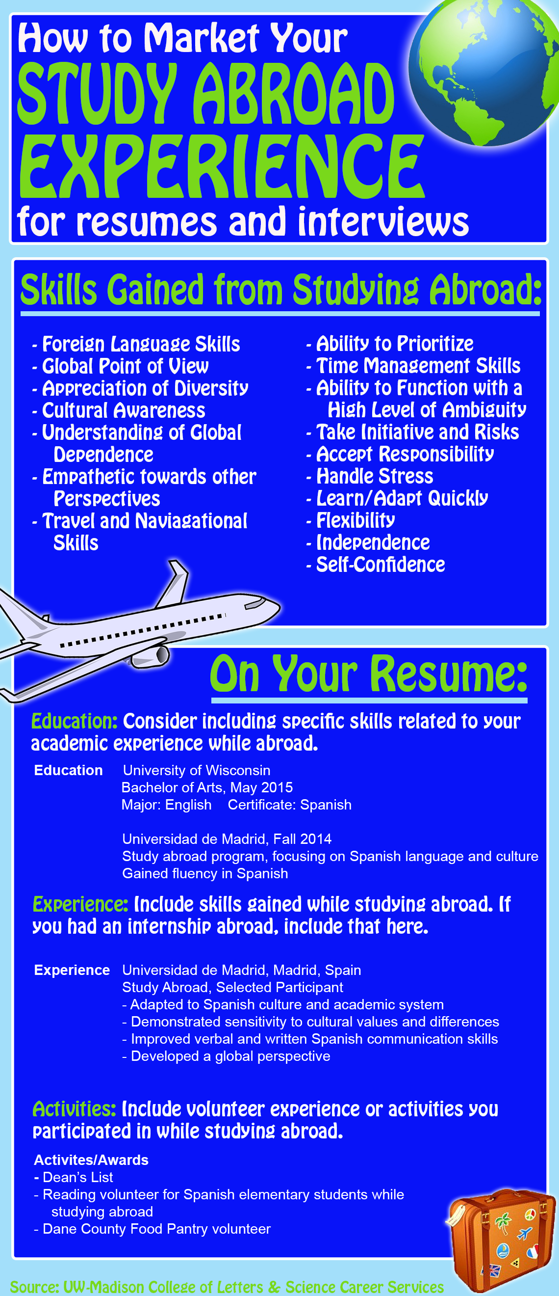 Resume Study Abroad Awesome Have International Experience Make Sure To Include It On Your .