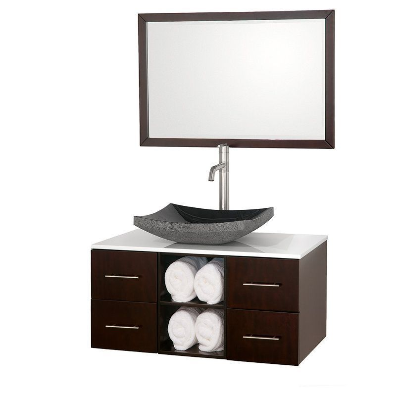Wyndham Collection Wc B900 36 Abba Wall Mounted Modern Vanity Set