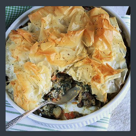 Phyllo Crusted Vegetable Potpie