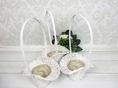 3 Streukorbchen Blumenkorbchen Weiss Blumenkinder Hochzeit Blumen Streuen Blumenkinder Hochzeit Blumenkinder Hochzeit