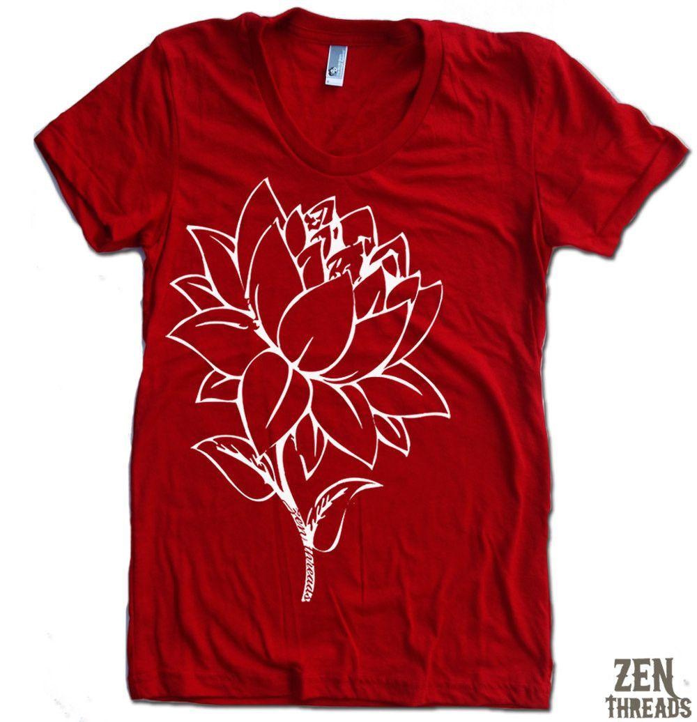 Womens Lotus Flower T Shirt Retail Therapy Springsummer