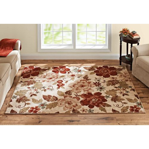 Better Homes And Gardens Floral Olefin Area Rug Decor Walmart