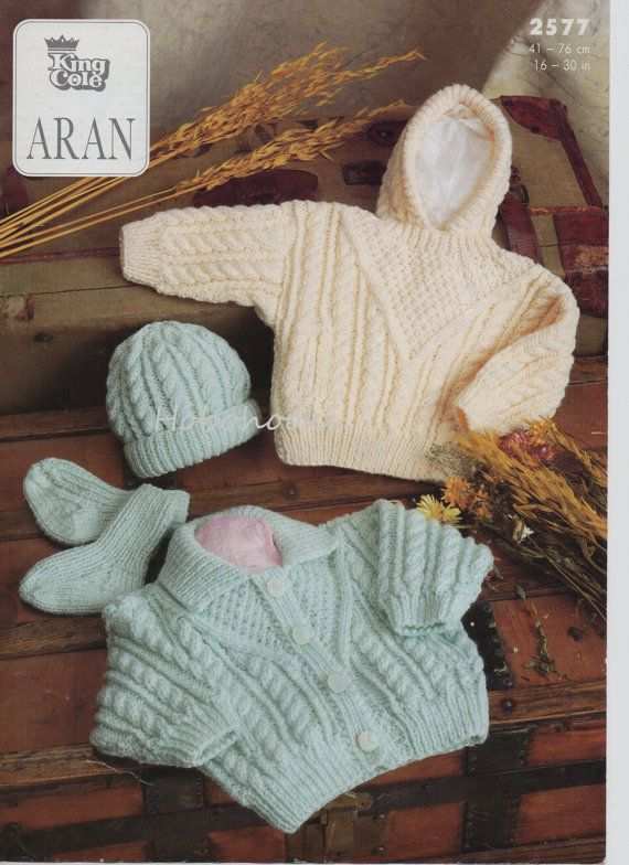 Baby / childs / childrens aran cardigan sweater with by Hobohooks ...
