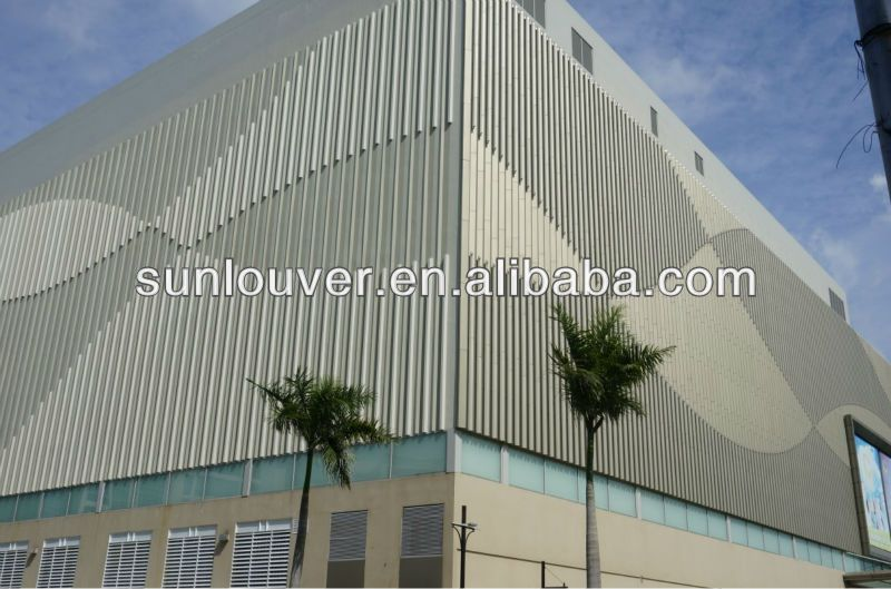 Exterior Louvers Aluminum With Box Shape For Facade Aluminum Profile Exterior Facade Outdoor Decor
