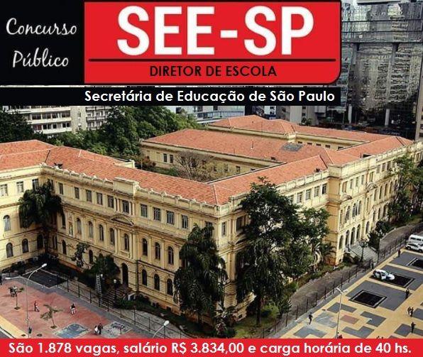 See Sp Abre Concurso Para 1 878 Vagas De Diretor De Escola Do