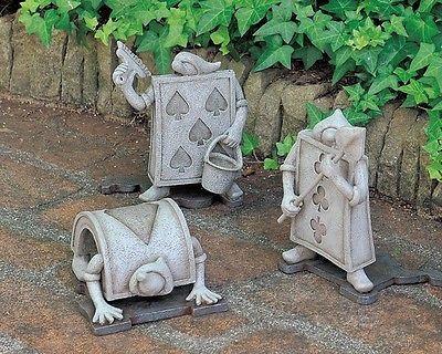 Disney Alice In Wonderland Garden Décor Garden ornament 4 type Trump Soldier F/S  | eBay #disneyhousedecor