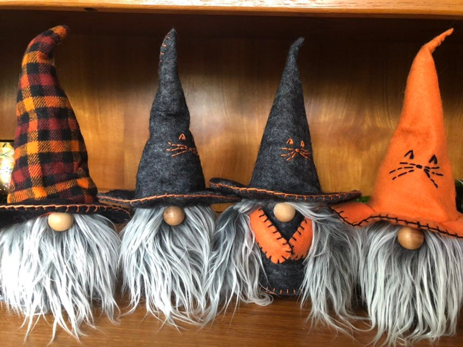 New Plaid Witches Warlocks Gnomes Nisse Tomte Gnomes
