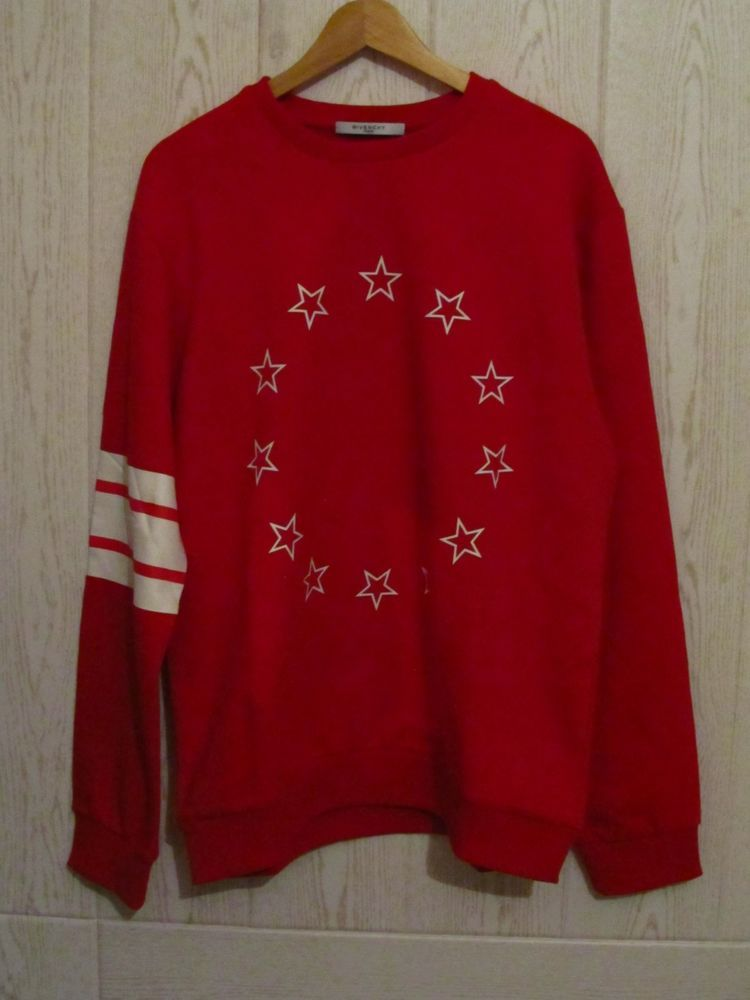 Givenchy Mens Stars print Red Jumper Sweater - Size 2XL Cuban fit  Givenchy ae3f28034