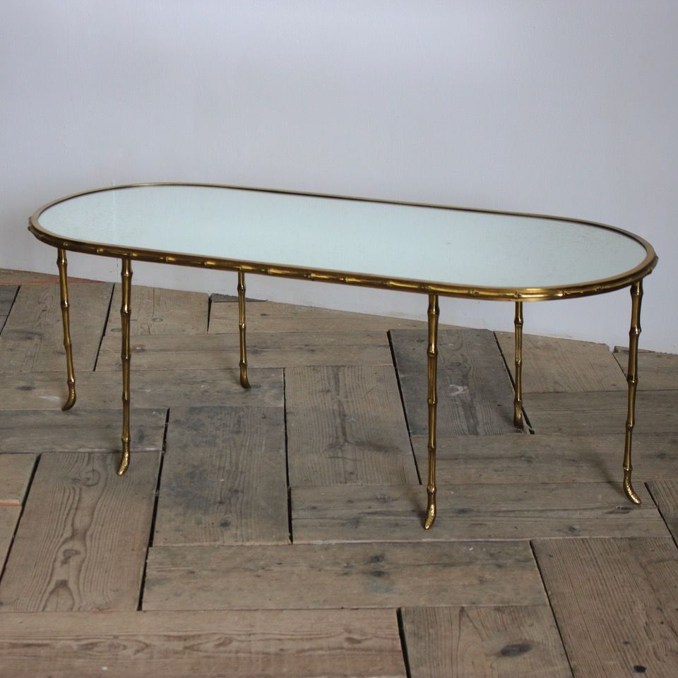 Circa 1970s Brass Mirror Glass Coffee Table In The Style Of Maison Bagues Coffee Table Antique Table French Coffee Table [ 960 x 960 Pixel ]
