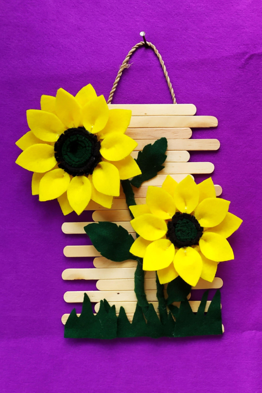 Tutorial Cara Membuat Hiasan Dinding Dari Stik Es Krim Dan Bunga