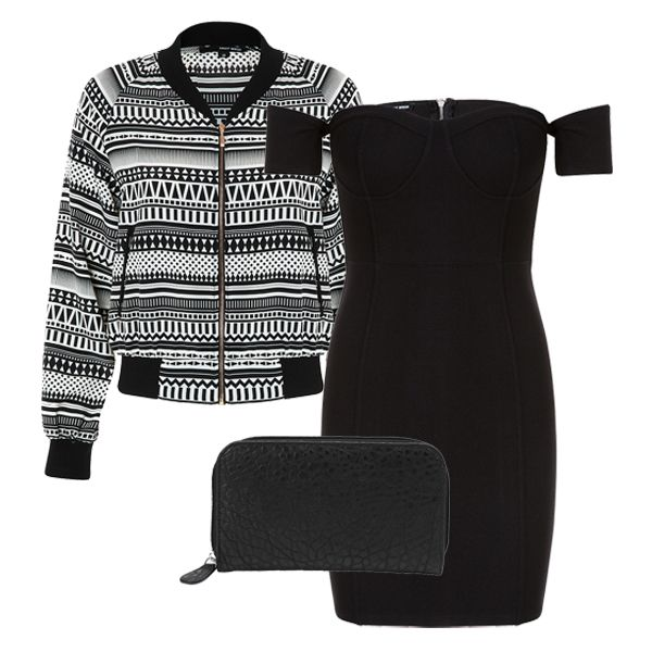 #ootd #party #outfit #jacket #bomber http://www.tally-weijl.eu/p/jackets-coats/blouson-a-motifs-geometriques/sja2169gazte-whiblk001?categoryId=14079