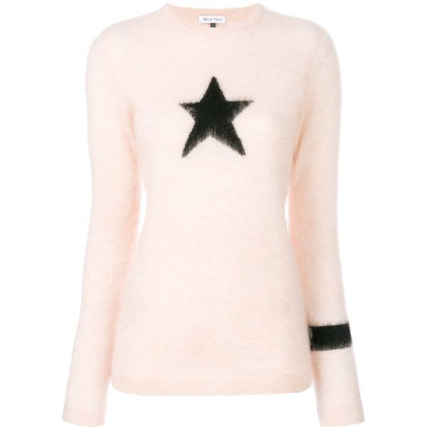 7cc9e39cbe9 Bella Freud Star Intarsia Jumper ( 273) ❤ liked on Polyvore featuring tops