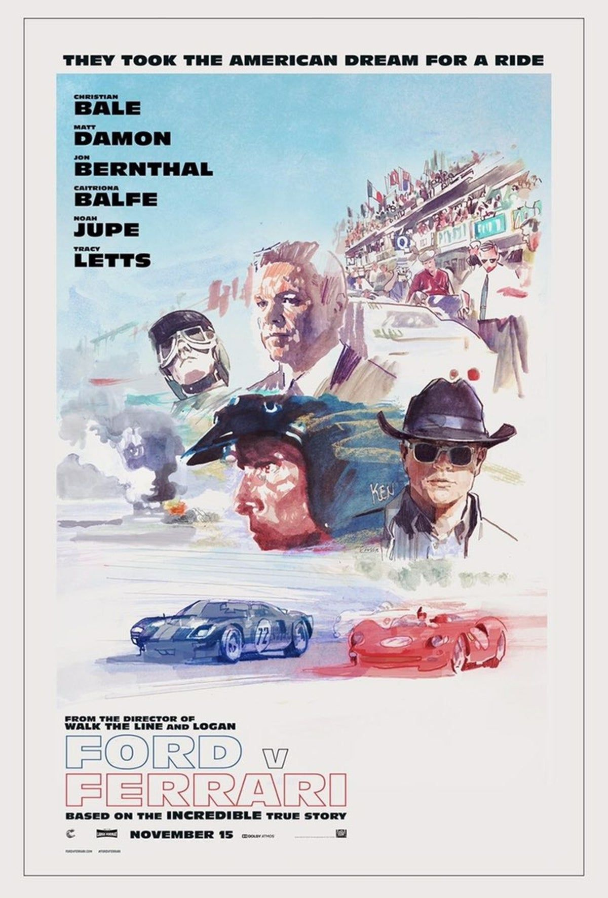 Ford V Ferrari Movie Poster 11x17 Ferrari Ford Dark Shadows Movie