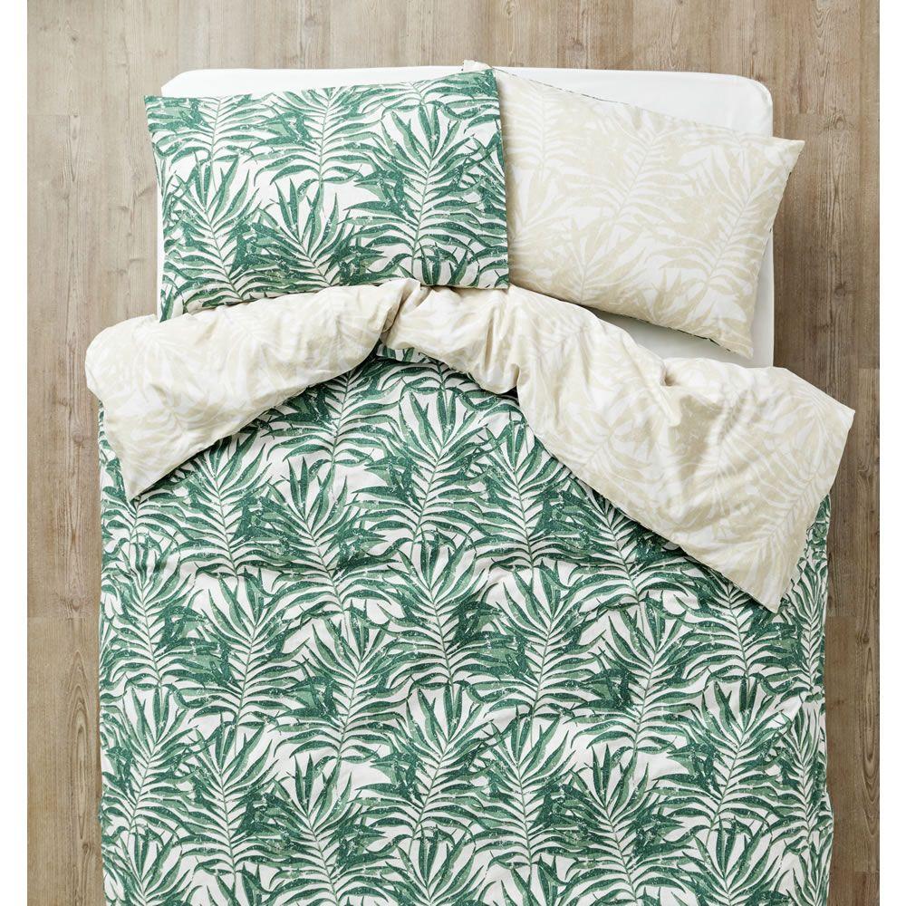 Tropical Leaves Easy Care Double Duvet Set With Images Double Duvet Set Duvet Sets King Size Duvet Sets