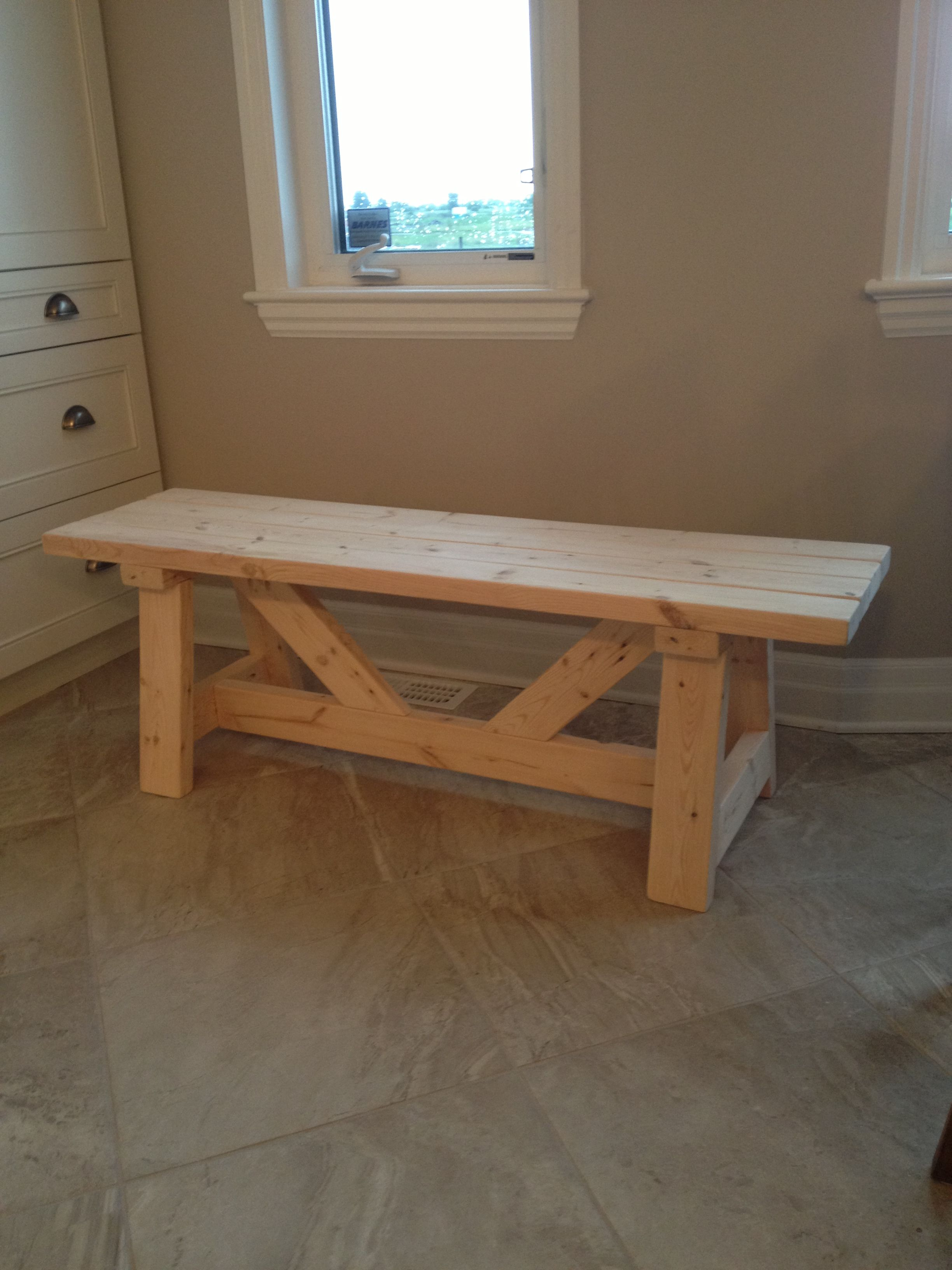 Farmhouse Bench In 1 Day Home Projects Furniture Diy Home Diy