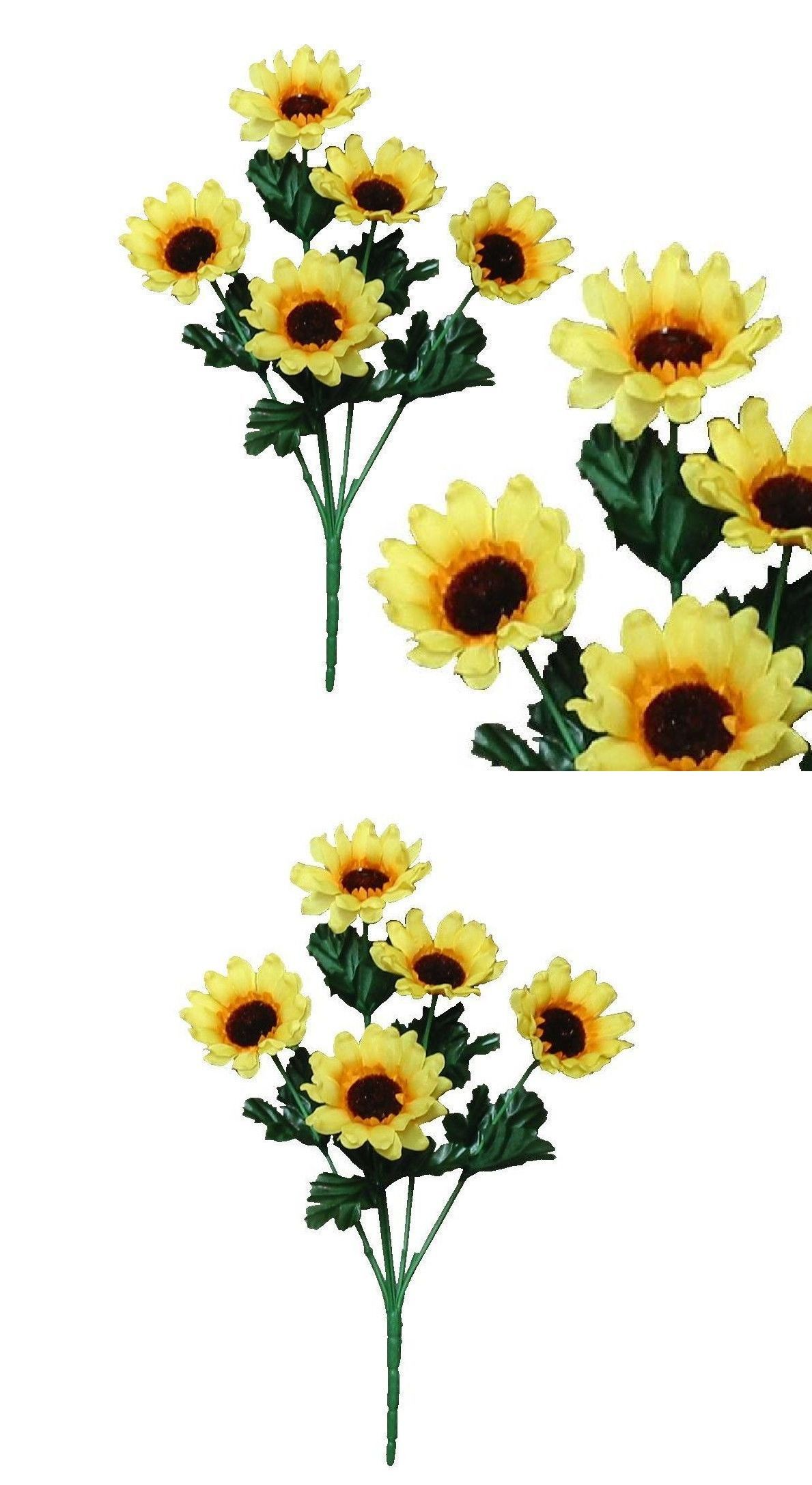Artificial And Silk Flowers 16494 Lot Of 120 13 Sunflower Small