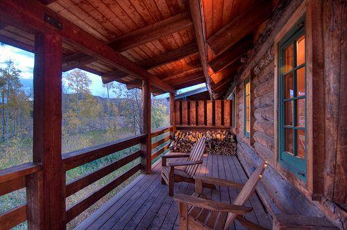 Love This Rustic Cabin Porch Cabin Time Cabin Porches