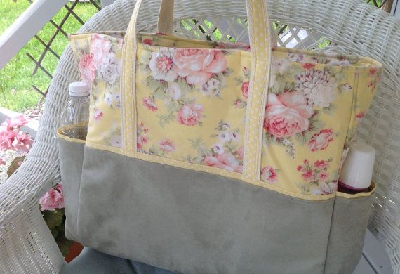yellow shabby chic diaper bag made to order diaper bag diapers rh pinterest com