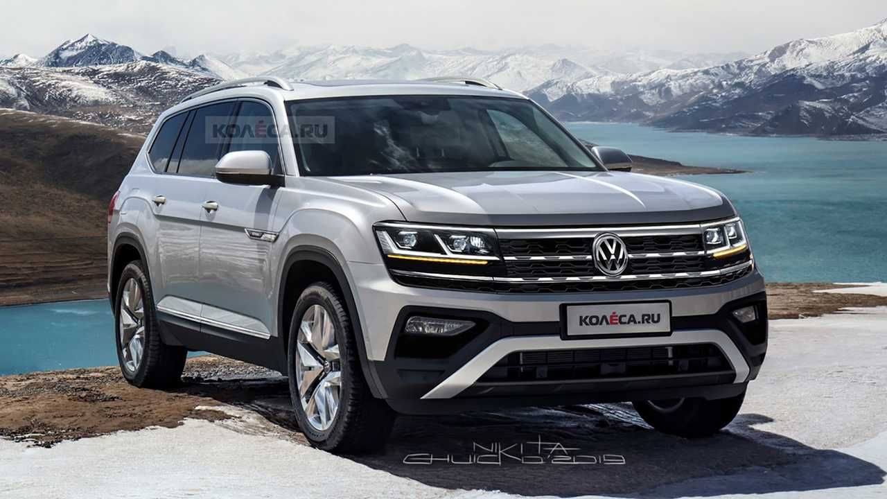 2021 Vw Atlas Imagined With Refined Facelift Volkswagen Volkswagen New Car Vw For Sale