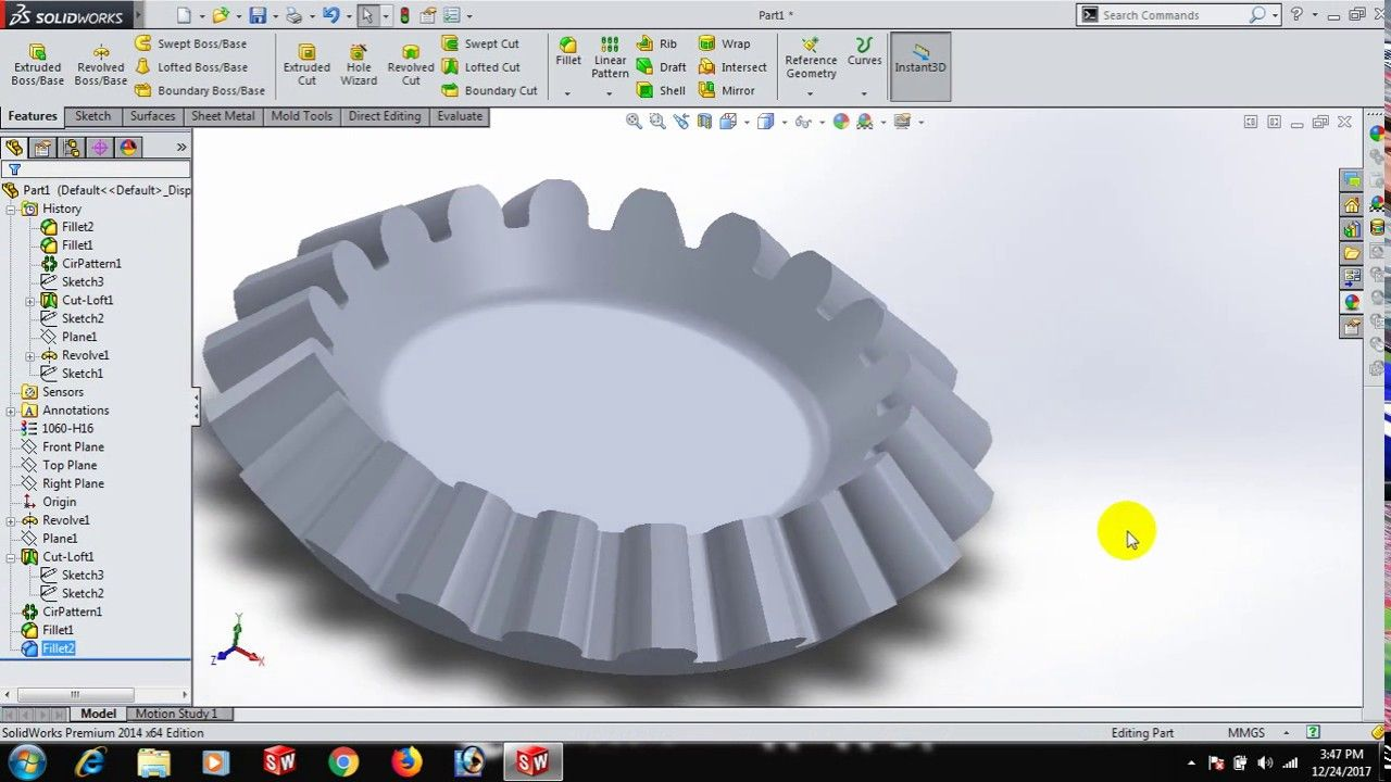 Gear In Solidworks