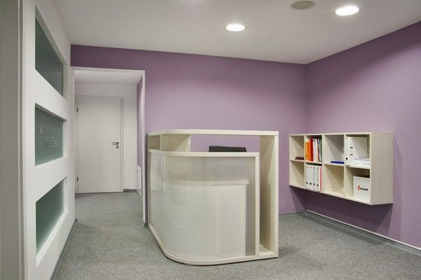reception area and wall color design for dental clinic pinterest