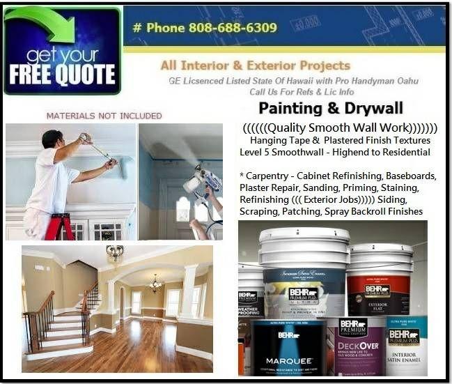 Painter And Patch Drywall Repairs Honolulu Hawaii Water Damaged Ceiling Drywall Repair Handyman