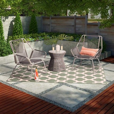 Carag 3pc Patio Chat Set Gray Project 62 Patio Patio Furniture Sets Target Outdoor Furniture