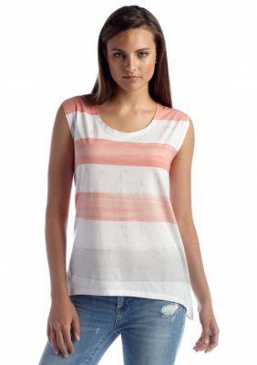 DKNY Jeans  Paint Stripe Boxy Top