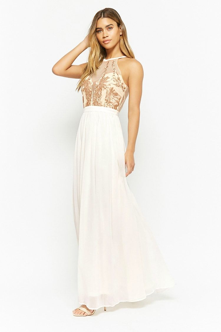 604f8b174d8 Floral Embroidered Maxi Dress Forever 21