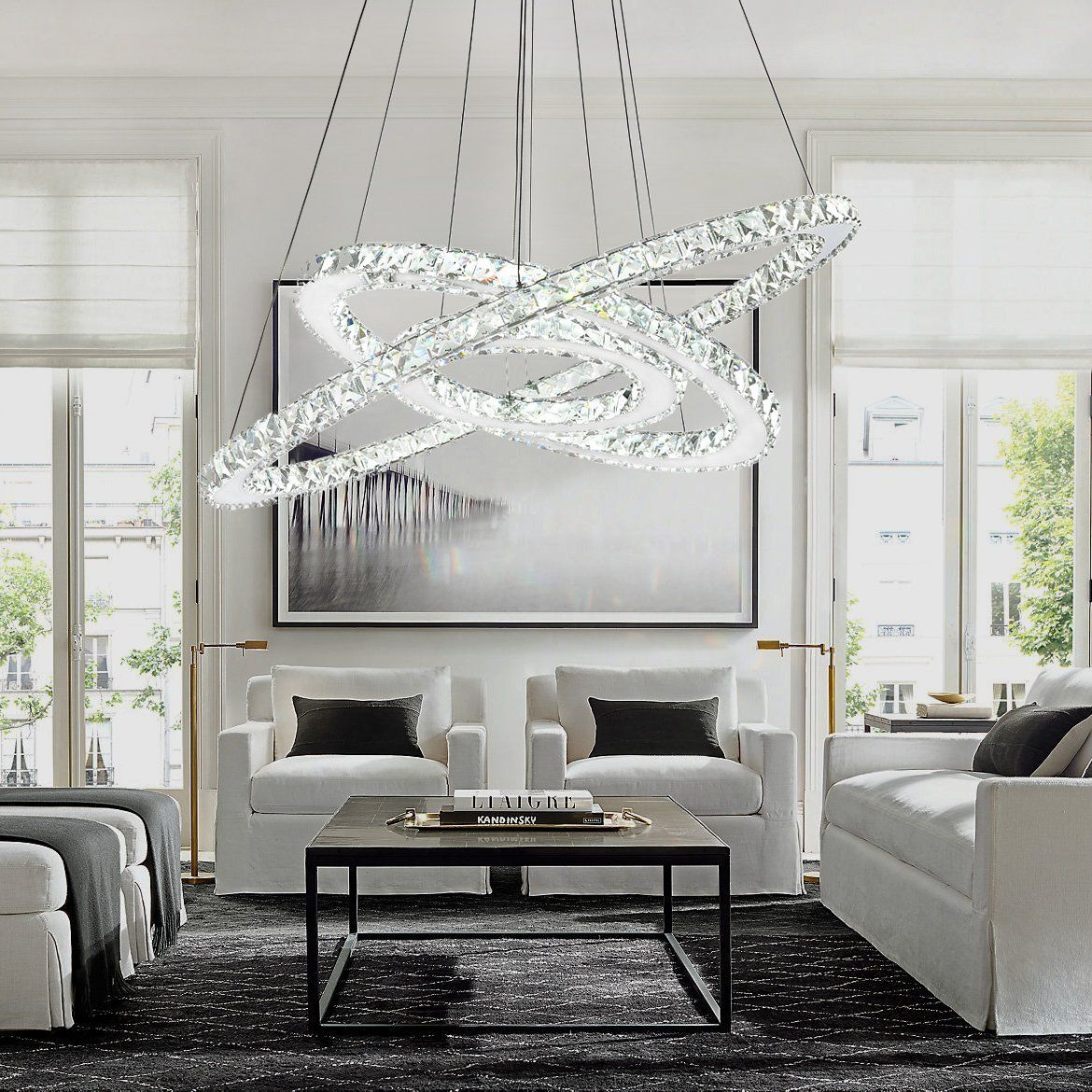 Crystal Ring Chandelier Multi Ring Choices Dining Room